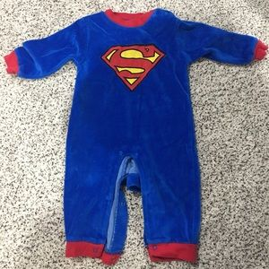 Superman velour bodysuit 6-9m
